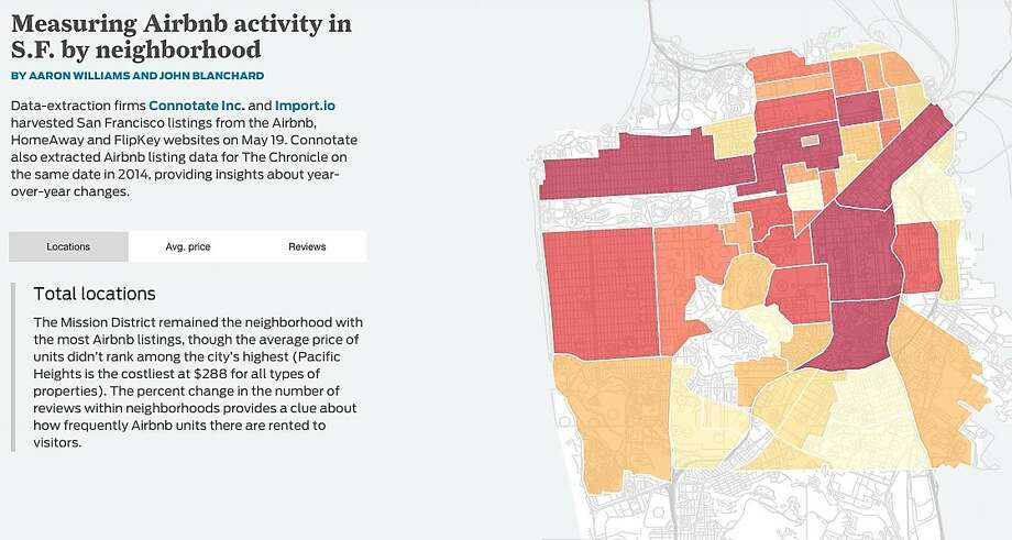 This is a screenshot from The Chronicle's Airbnb Effect project. Photo: Chronicle