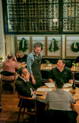 People have dinner at Ninebark in Napa, Calif. on Tuesday, December 15th, 2015.