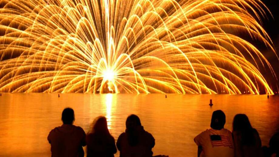 The city's annual fireworks display will be canceled this year for budgetary reasons. Photo: File Photo / Stamford Advocate File Photo