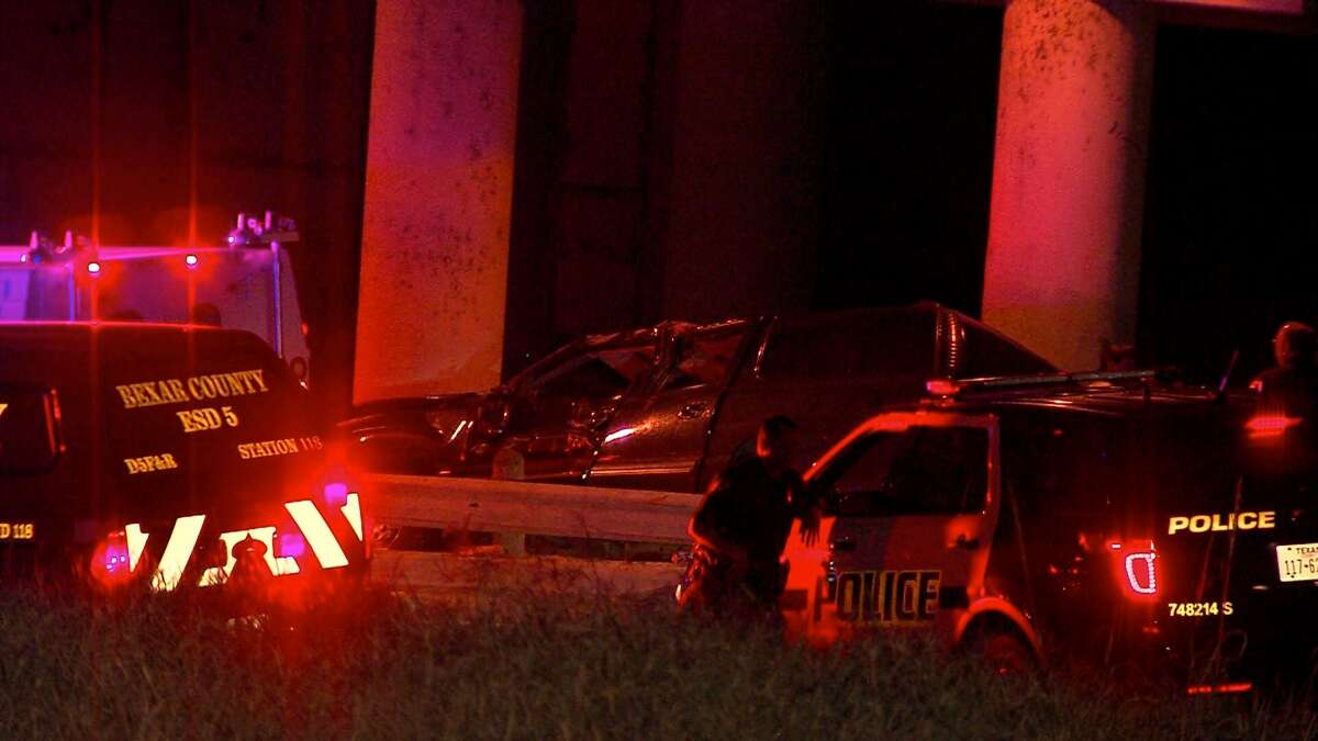 Authorities said a driver died Wednesday morning during a crash near Von Ormy.