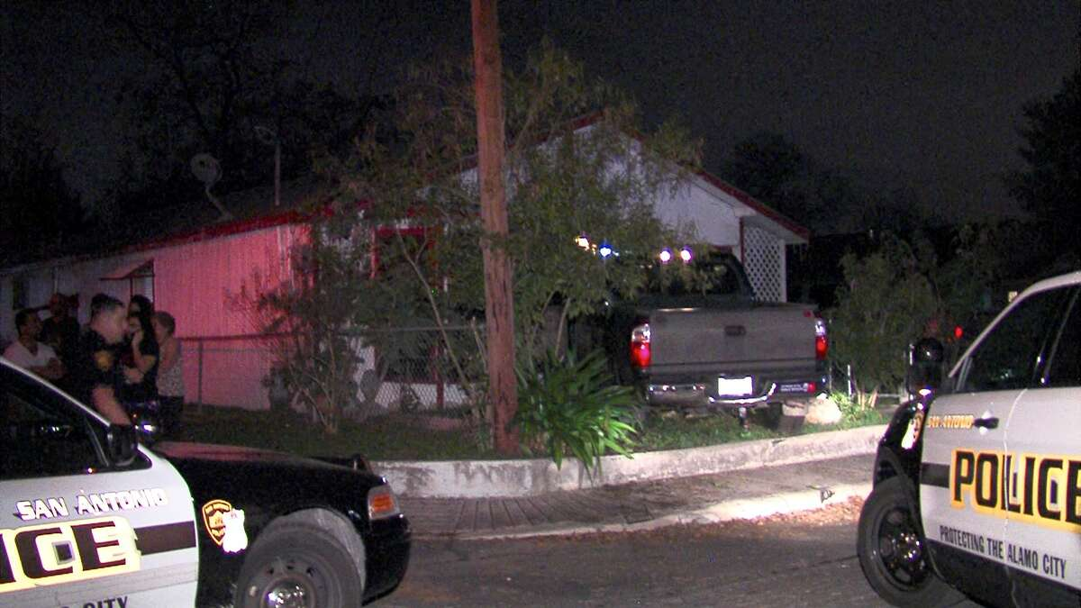 Police are searching for suspects who abandoned a stolen truck on a property on the West Side Tuesday night.