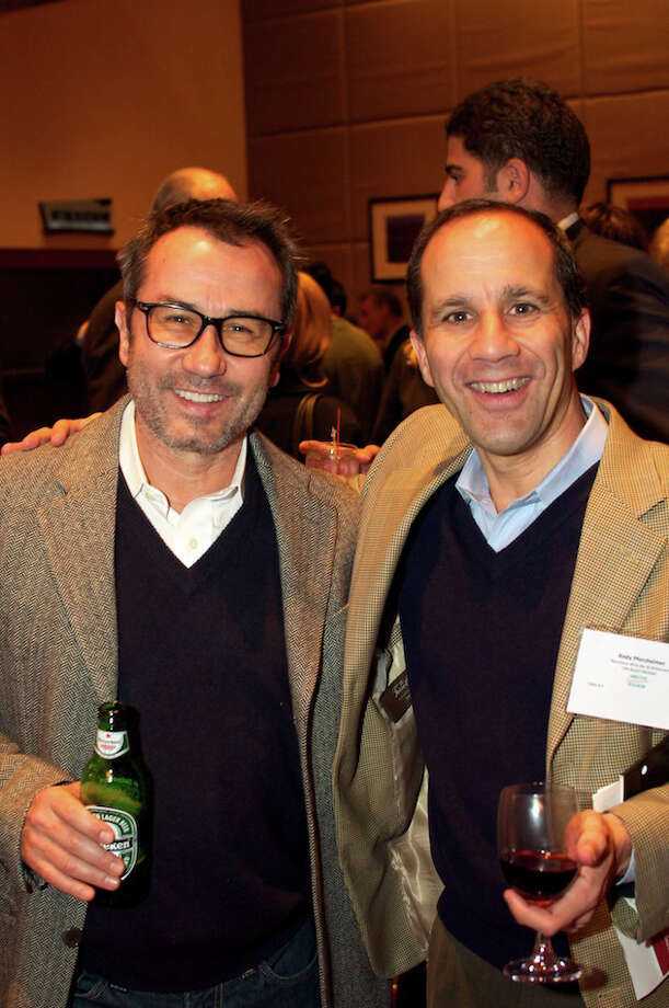 Barcelona Wine Bar founders Sasa Mahr-Batuz, left, and Andy Pforzheimer in 2010. On December 16, 2015, General Atlantic Partners bought a minority stake in Barteca Holdings, the Norwalk, Conn.-based company that operates Barcelona and sister restaurant Bartaco. Photo: Contributed Photo / ST / Norwalk Citizen