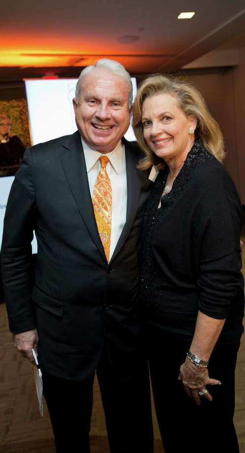 Mark Wallace, president and CEO of Texas Children's Hospital, and Memorial resident Nancy Gordon at the What's Up Doc event in November.    Mark Wallace, president and CEO of Texas Children's Hospital, and Memorial resident Nancy Gordon at the What's Up Doc event in November. Photo: Courtesy