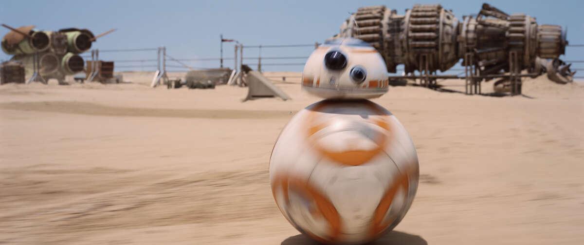 "Breakout ""star"" BB-8. MUST CREDIT: Lucasfilm"