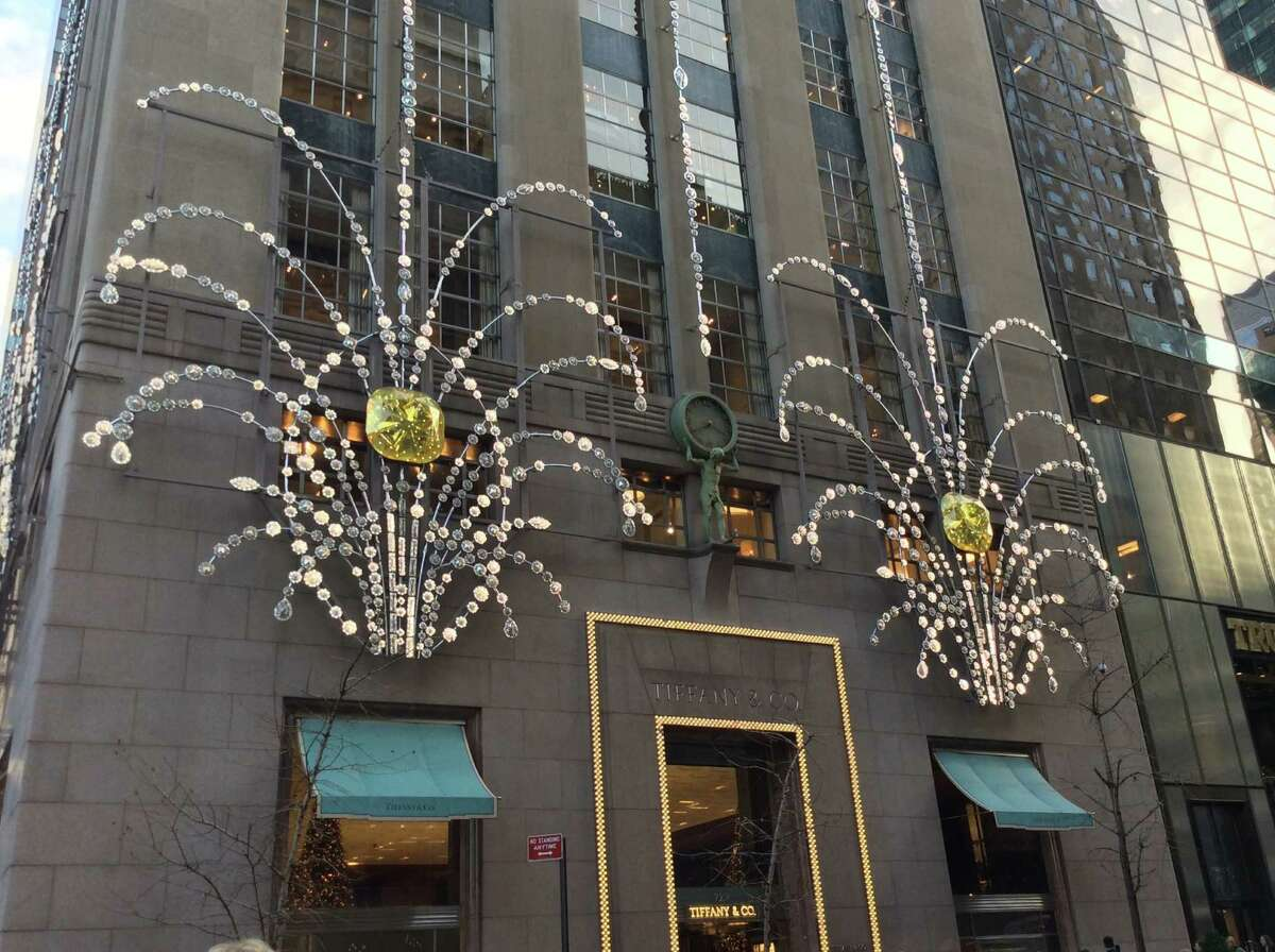 Tiffany & Co. is bejeweled for the holidays in New York.