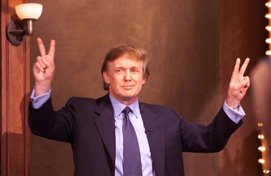 "Donald Trump greets the ""Jay Leno Show"" audience in 1999. Photo: Michael Maloney"