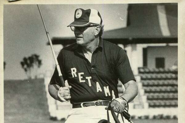 In this undated photo, Steve Gose participates in a polo match at the Retama Polo Center.