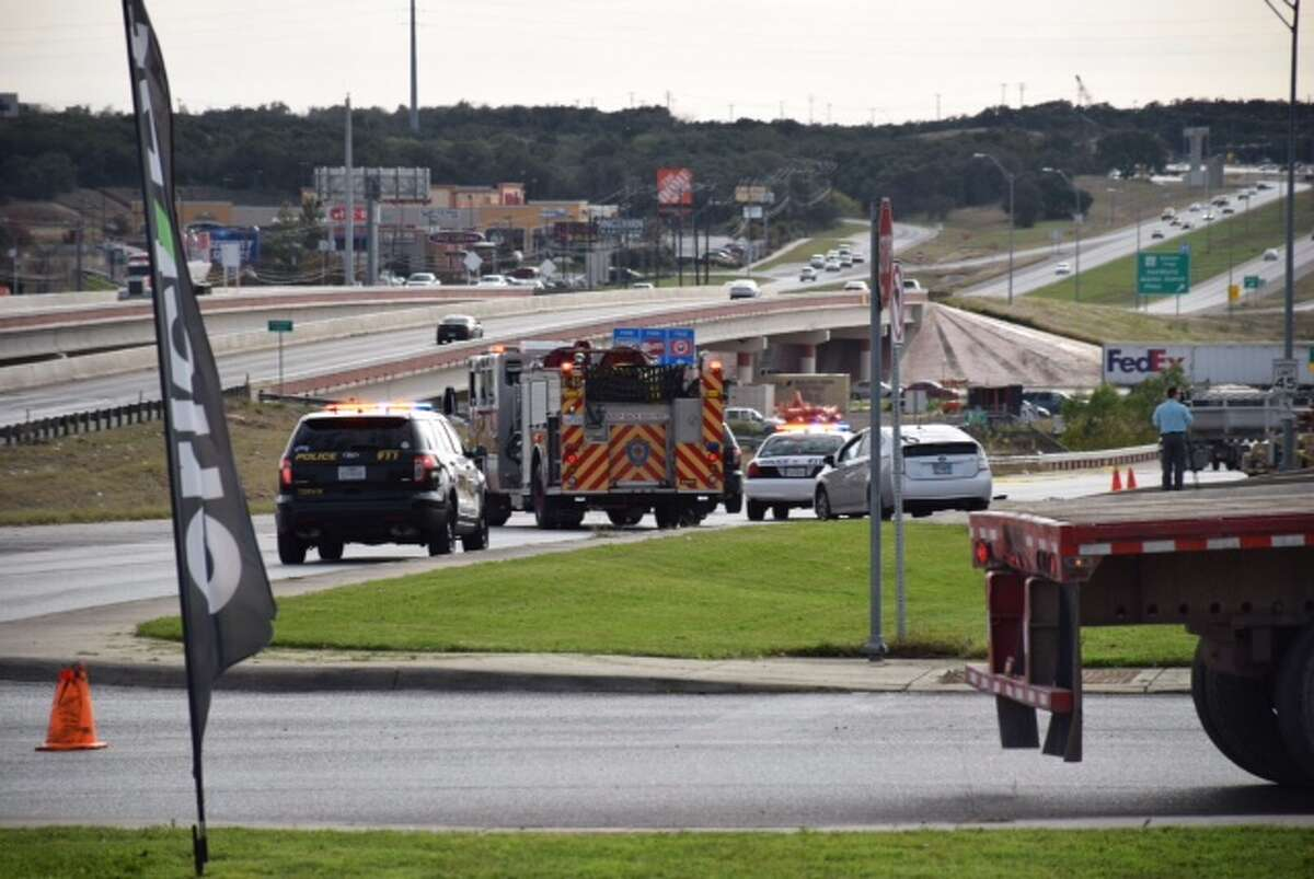 A woman was critically injured Wednesday afternoon, December 16, 2015, after being hit by a vehicle on the access road of Loop 1604 near Culebra Road.