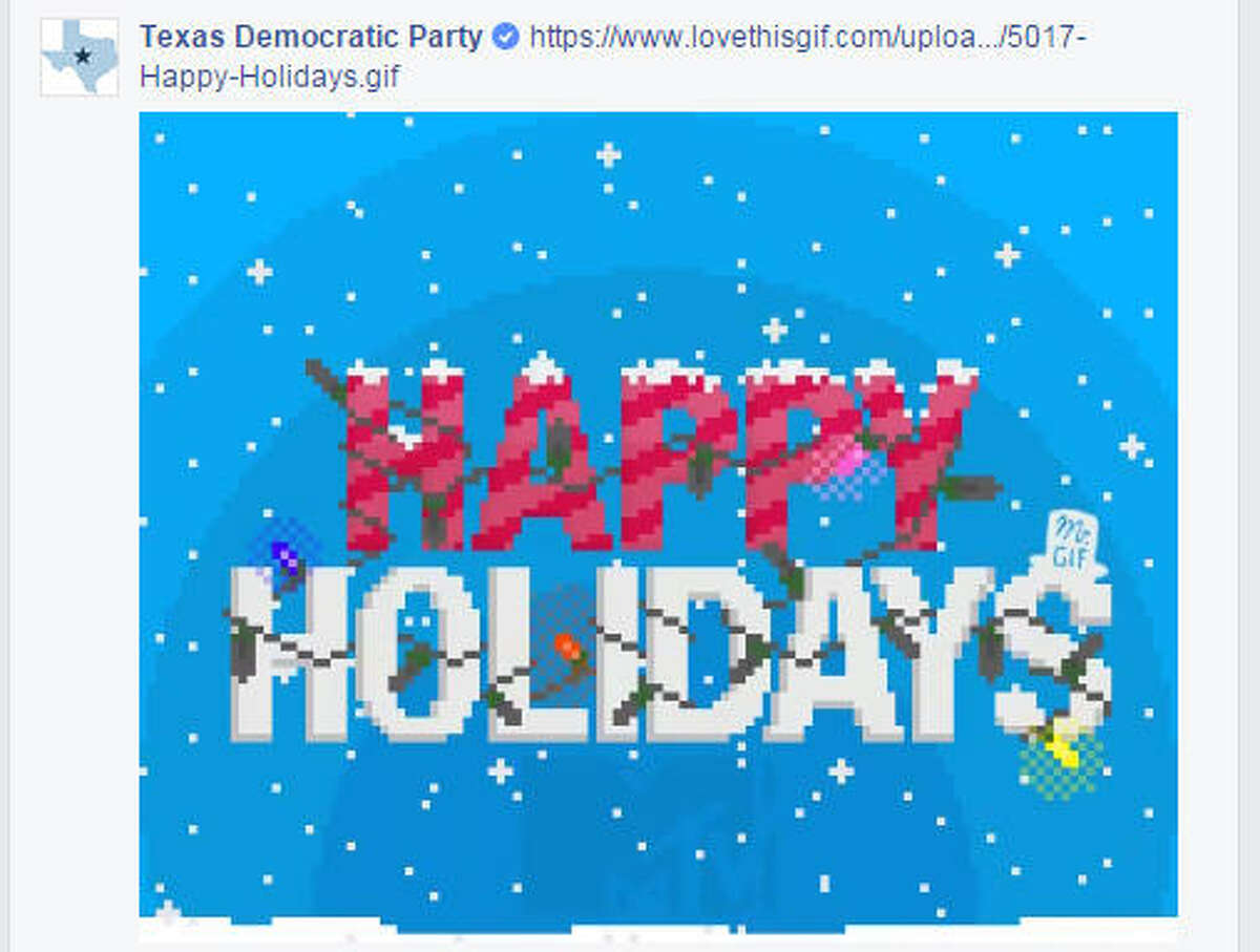 The Texas Democratic Party wished Sid Miller Happy Holidays in response to his Facebook post. (via Facebook)