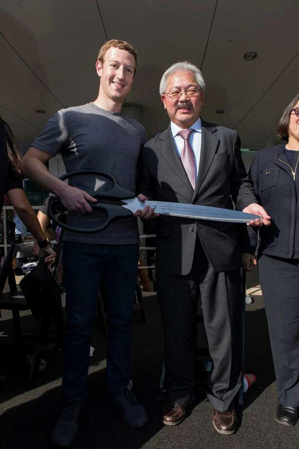 Mark Zuckerberg and San Francisco Mayor Ed Lee Photo: Drew Altizer Photography / © 2015 Drew Altizer Photography