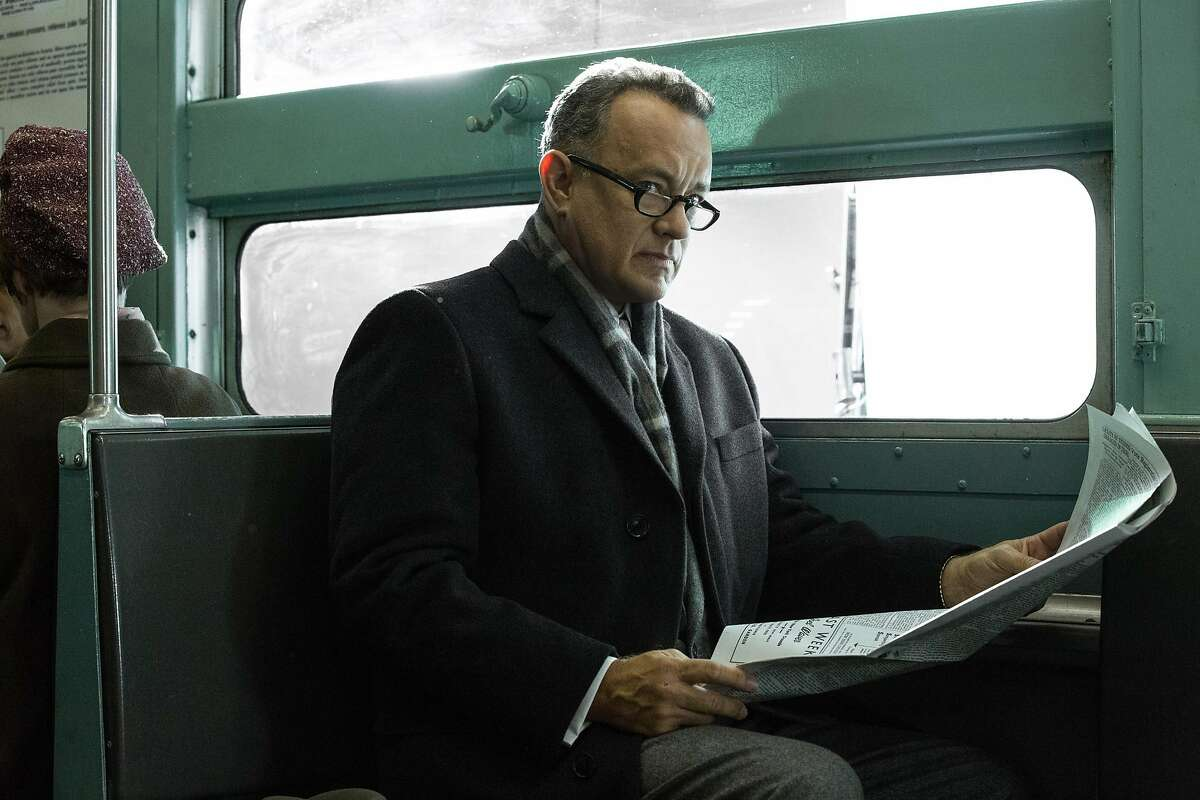 """In this image released by DreamWorks II Distribution Co., Tom Hanks portrays Brooklyn lawyer James Donovan in a scene from the Steven Spielberg film, """"Bridge of Spies."""""""