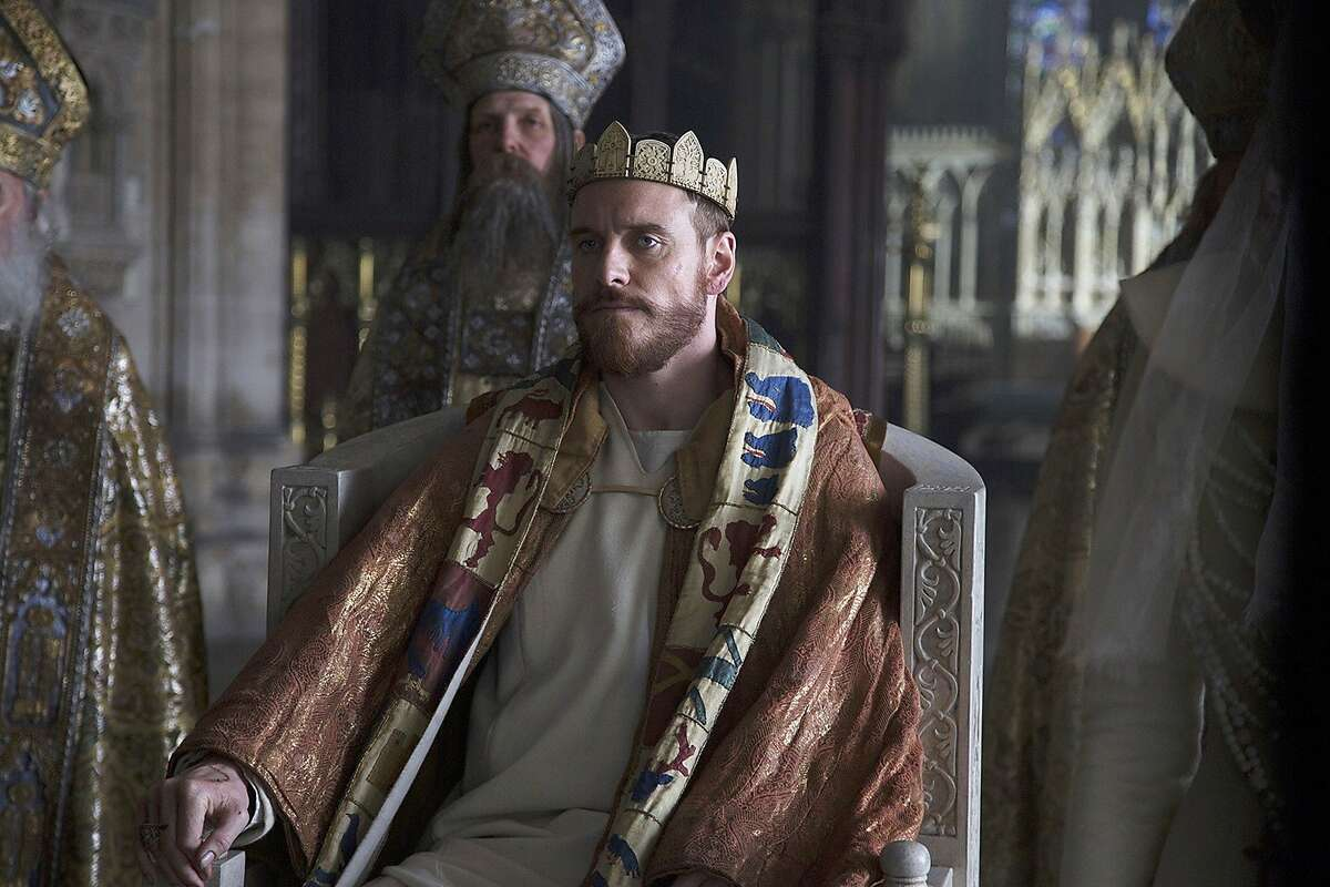 """This photo provided by The Weinstein Company shows, Michael Fassbender, as Macbeth, in a scene from the film, """"Macbeth."""" (Jonathan Olley/The Weinstein Company via AP)"""