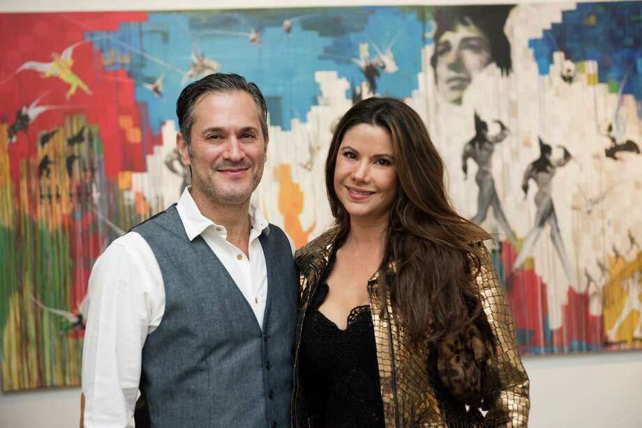 "Bob and Mariana Debes at Deborah Colton Gallery for the launch of the retrospective book, ""Dominic Walsh Dance Theater."" Photo: Danny Nguyen"