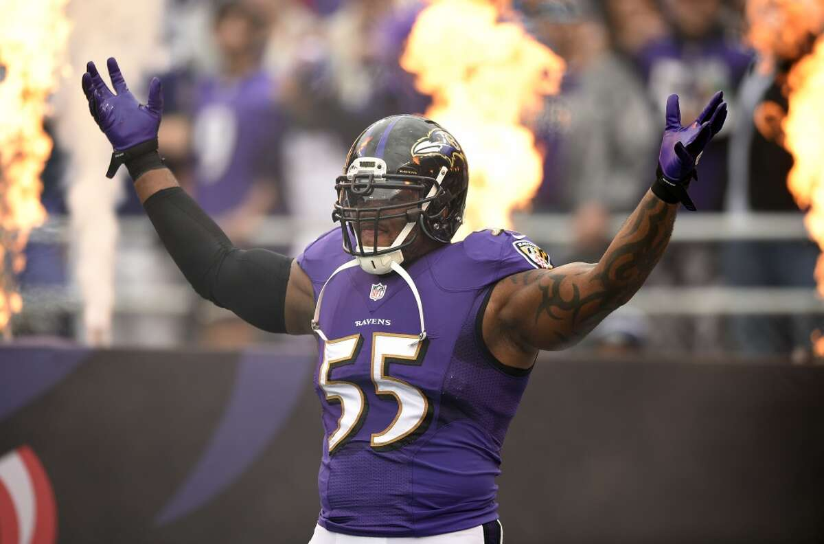 Baltimore Losing Terrell Suggs (pictured) for the year in the season opener to a torn Achilles tendon was bad enough, but quarterback Joe Flacco's knee injury doomed the Ravens' chances of finishing above .500, never mind making the playoffs.