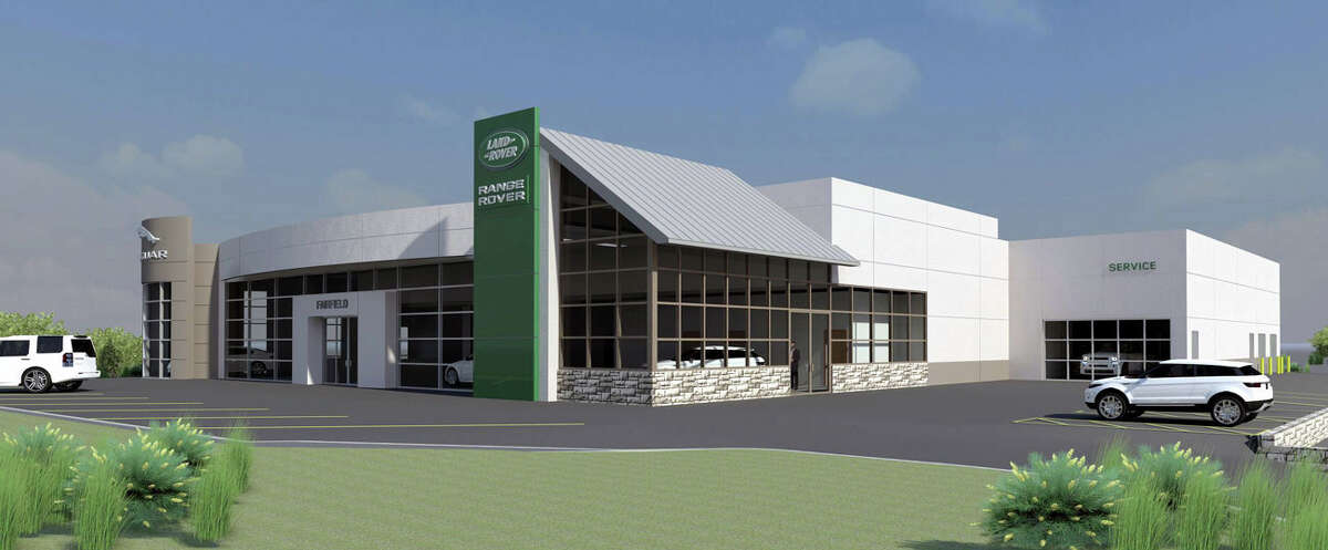 A rendering of the new Land Rover and Jaguar building at 1 Commerce Drive, Fairfield, across the street from the nearly leased land.