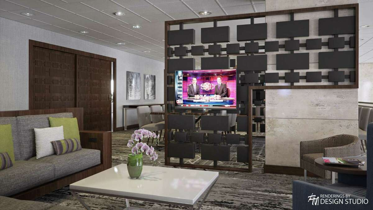 The DoubleTree Hotel & Suites Houston by the Galleria at 5353 Westheimer is undergoing a renovation. Paradigm Design Group is handling the design of the new spaces. Shown is the second floor lounge.
