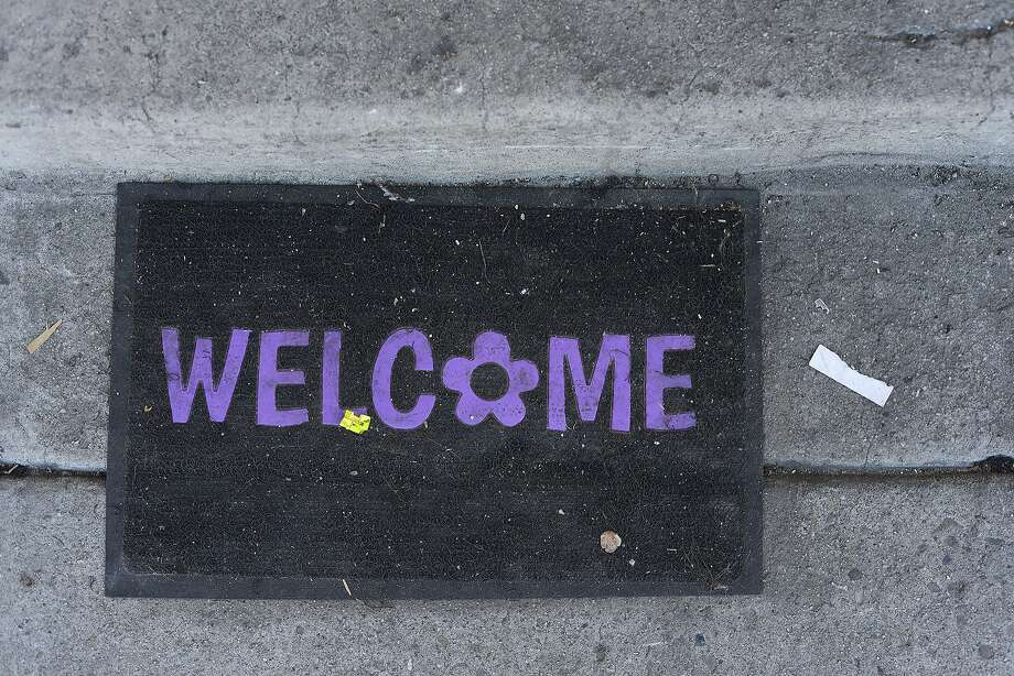 A welcome mat. Photo: Brandon Chew, Special To The Chronicle