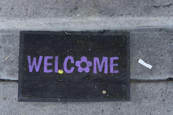 A welcome mat.