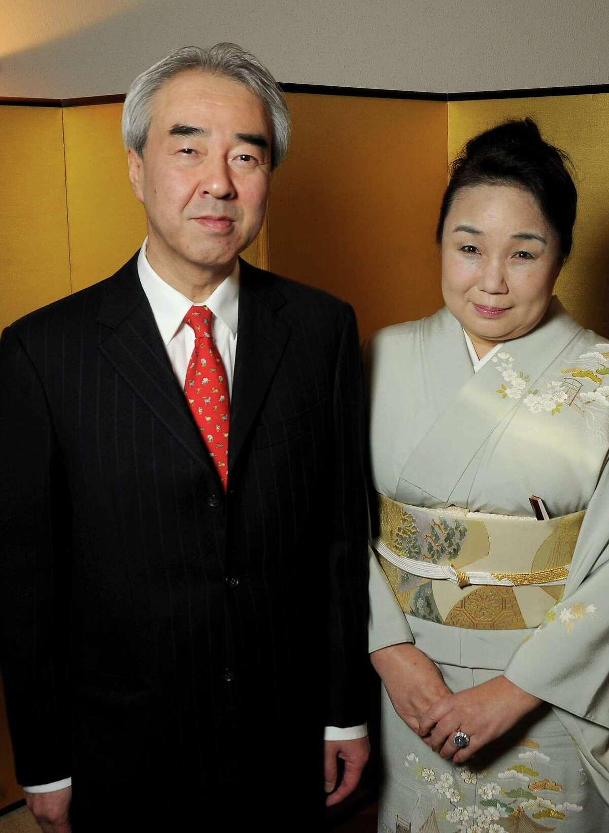 The Consul-General of Japan Nozomu Takaoka and his wife Yumi