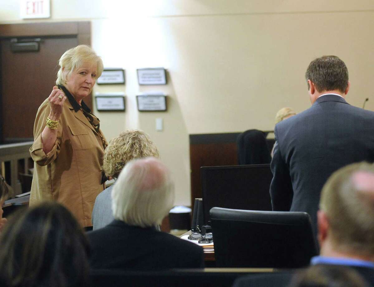 District Attorney Susan Reed denies ever having sexual relations with Dr. Calvin Day during a pre-trial hearing in 379th District Court on Tuesday, June 4, 2013. Day is accused of rape and says that the District Attorney's office should be recused because he had sex with Reed in Las Vegas in 2006.