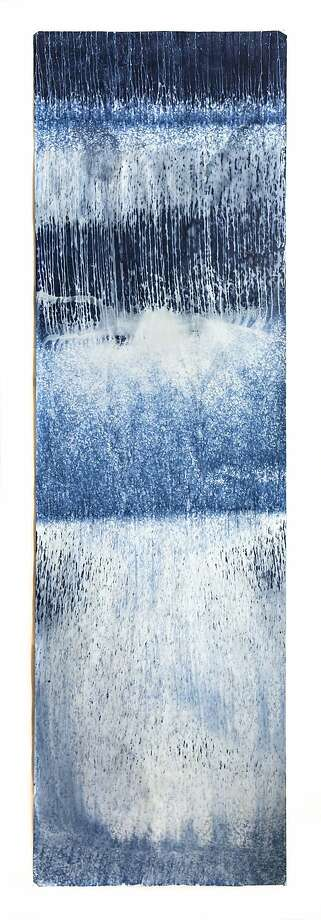 "Meghann Riepenhoff, from ""Littoral Drift."" A cyanotype 12 feet in height by 42 inches wide. Photo: Courtesy The Artist"