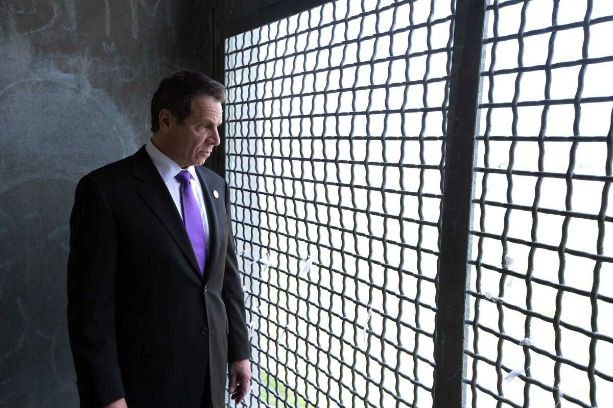 Governor Andrew M. Cuomo tours the Special Housing Unit of the Greene Correctional Facility on May 28, 2015, in Coxsackie, N.Y. (Office of Governor)