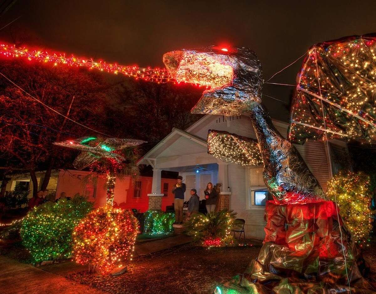 Wacky Austin Lights W. 37th Street and Guadalupe Street Austin, Texas Where else will you find a fire-breathing dragon on display? See it here.