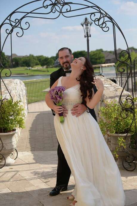 After meeting online through the Temple of the Jedi Order, Brenna West moved from New Zealand to Texas to marry Clint West. The couple has been married for six months.  Photo provided by Brenna West