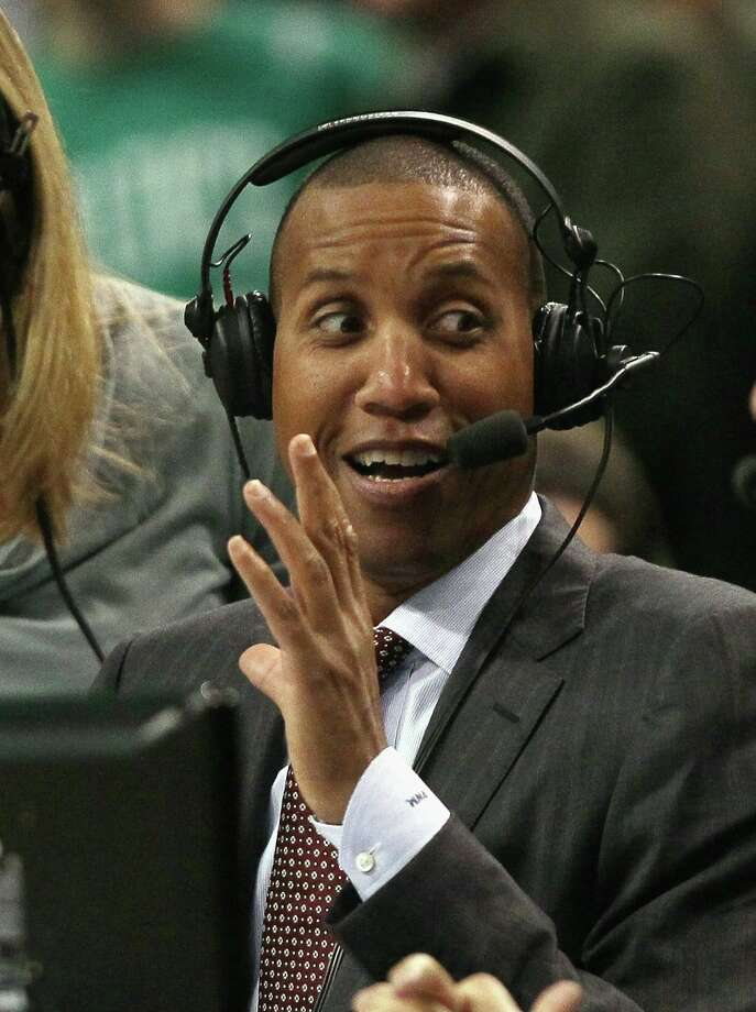 BOSTON, MA - FEBRUARY 10:  Former Indiana Pacer and former NBA 3-point all time record holder, Reggie Miller reacts after Ray Allen #20 of the Boston Celtics tied his record in the first quarter against the Los Angeles Lakers on February 10, 2011 at the TD Garden in Boston, Massachusetts.  NOTE TO USER: User expressly acknowledges and agrees that, by downloading and/or using this Photograph, User is consenting to the terms and conditions of the Getty Images License Agreement.  (Photo by Elsa/Getty Images) Photo: Elsa, Staff / Getty Images North America