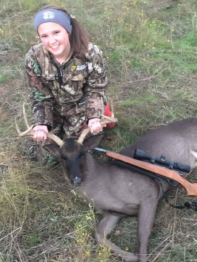 A young Texan set her heart on taking home her very first deer when she and her father embarked on their North Texas hunting trip in November, what she didn't expect was that she'd make a rare, headline-making kill when she shot a black-skinned buck.