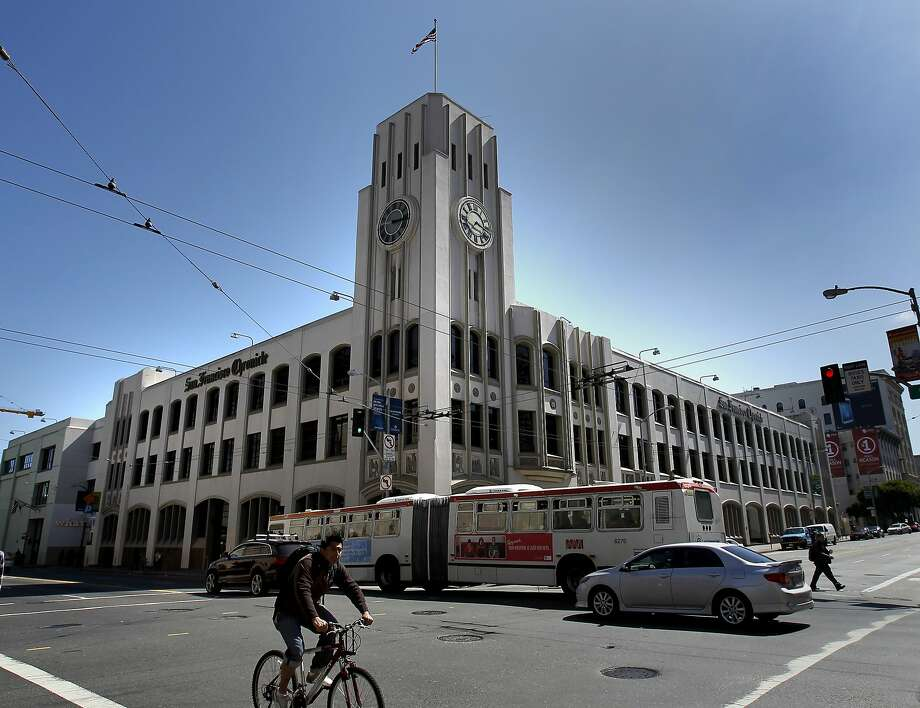 The Chronicle building at Fifth and Mission streets in San Francisco. Photo: Brant Ward, The Chronicle