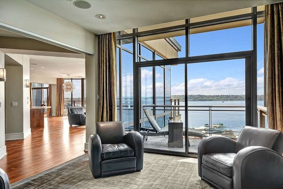 Here's living space in the penthouse, which is listed for $9.9 million.