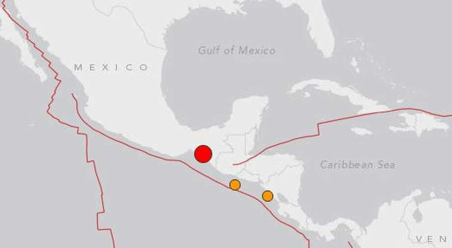The USGS recorded a sizable quake Dember 17th near the Guatemala Border. Photo: USGS