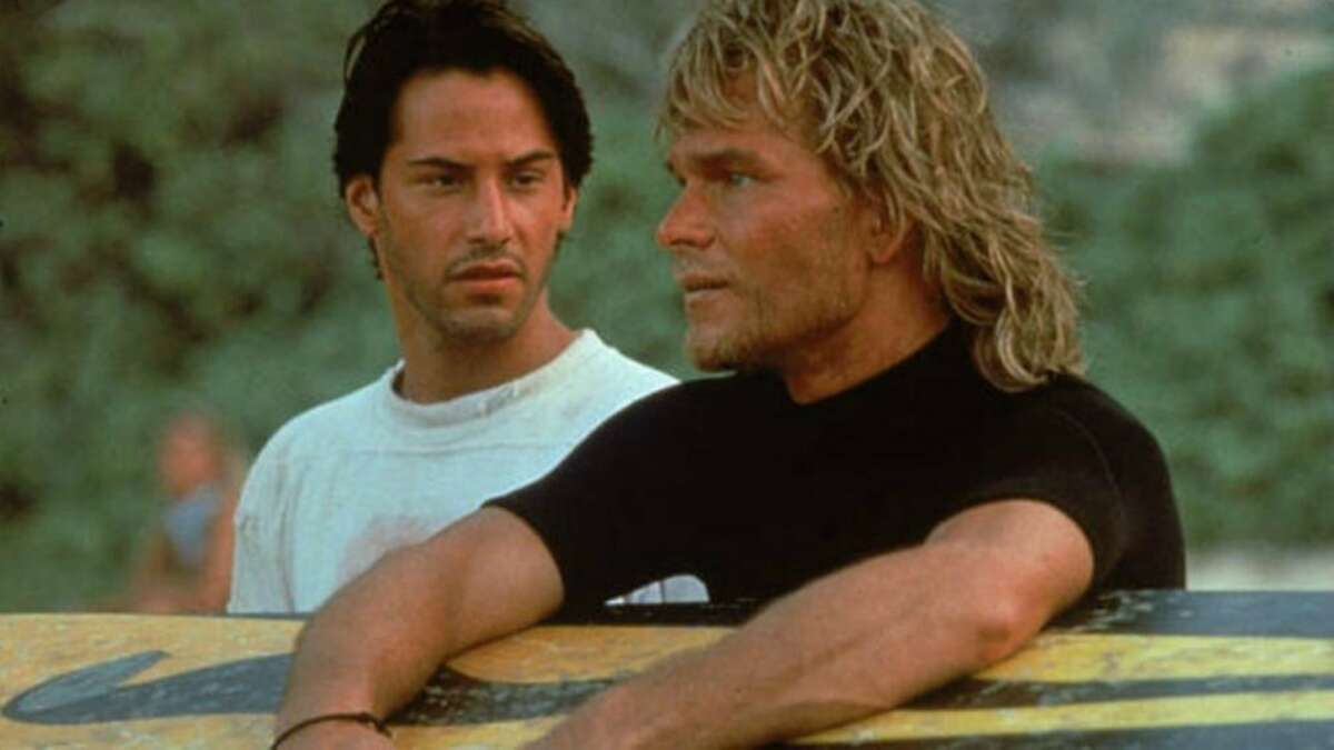 Point Break (1991)Available on Hulu Aug. 1 An F.B.I. Agent goes undercover to catch a gang of surfers who may be bank robbers.