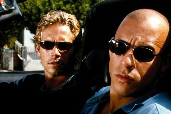 "Paul Walker and Vin Diesel in ""The Fast and the Furious"" (2001).  Photo: Courtesy of Universal Pictures"