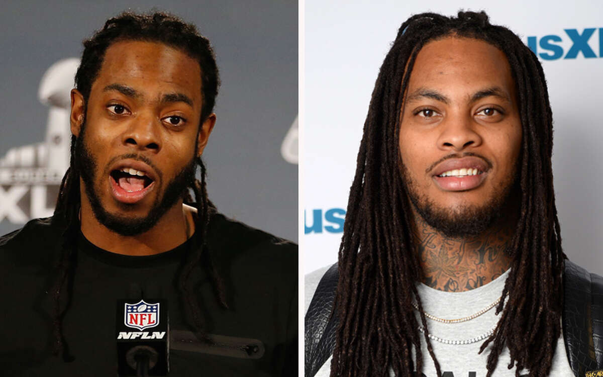 Richard Shermancornerback Wakka Flocka Flamerapper We can kind of see the resemblance, but let's be real here: it's all about the dreadlocks.