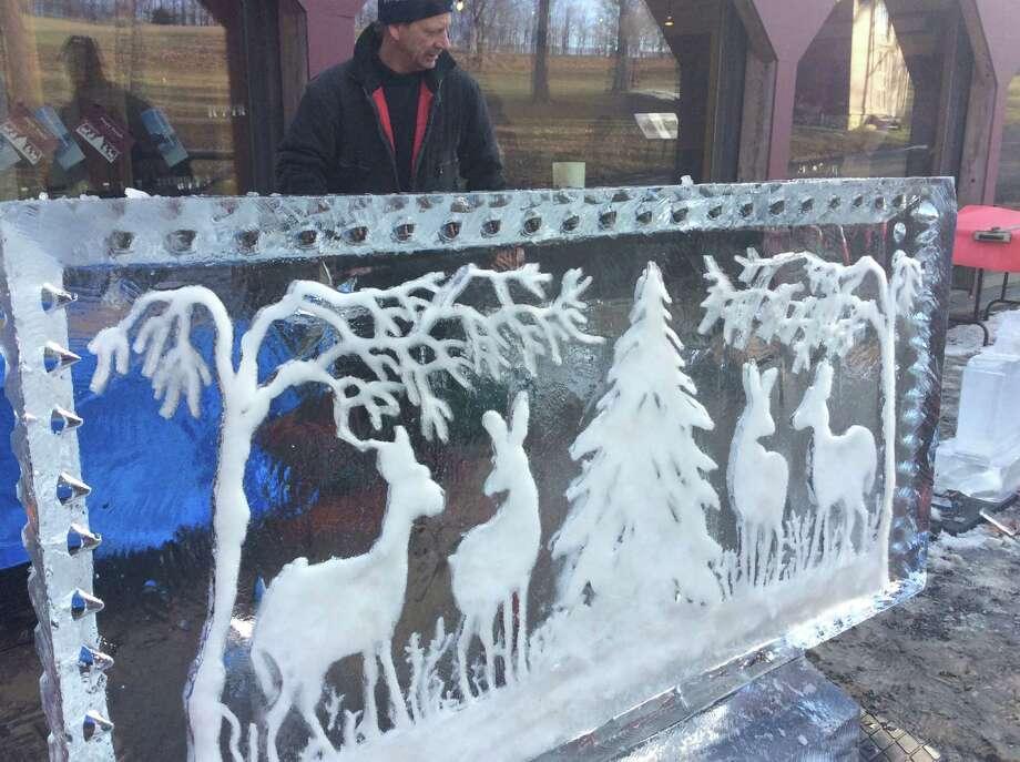Ice carving at Olana. (The Olana Partnership)