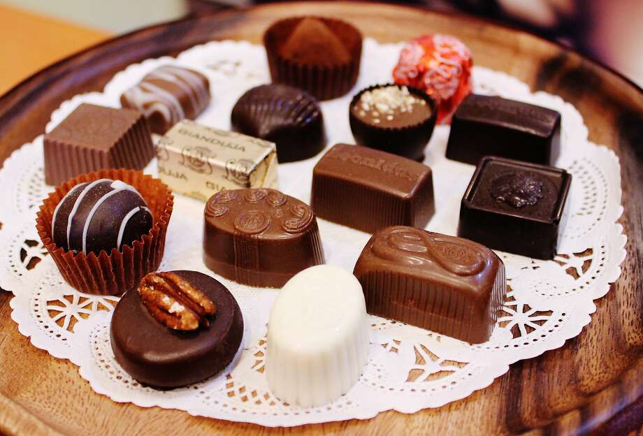 Belgian chocolates in creative flavors, as well as hot cocoa, are available at Cafe Leonidas. Photo: Stephanie Wright Hession