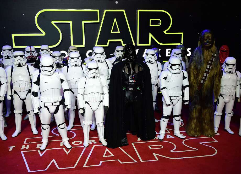 "The European premiere of ""Star Wars: The Force Awakens"" in London. Photo: LEON NEAL, Staff / AFP"