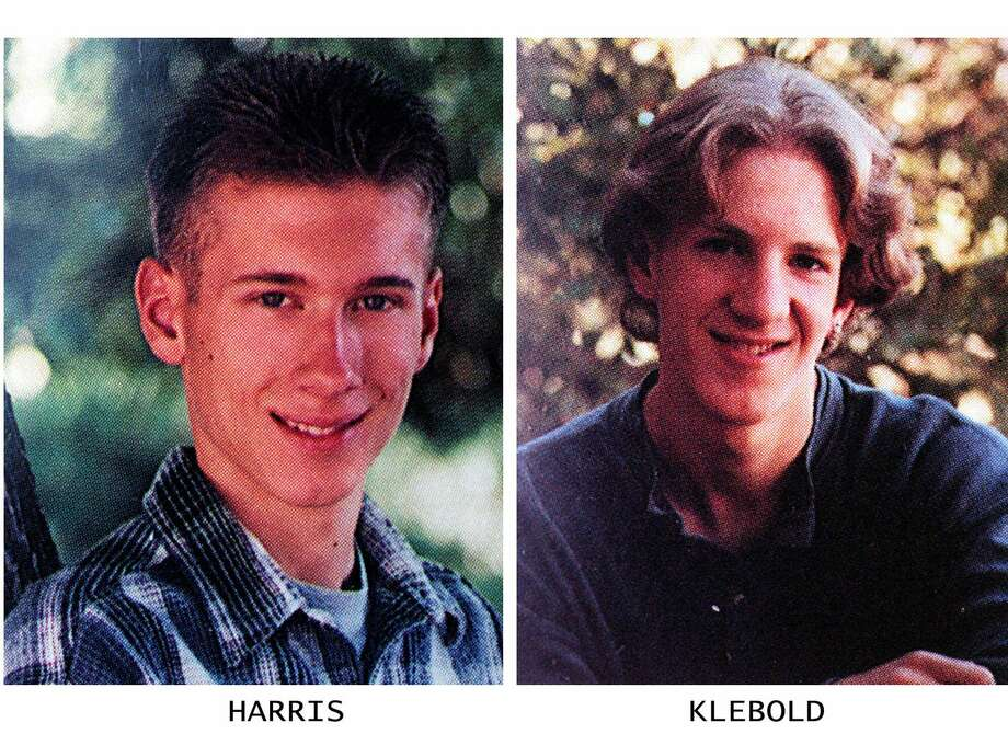 ADVANCE FOR SUNDAY, APRIL 16--FILE--These are 1999 yearbook photos from Columbine High School in Littleton, Colo., of Eric Harris, right, and Dylan Klebold. Harris and Klebold were the gunmen in the Columbine High School shooting that left 15 PEOPLE; INCLUDING 12 STUDENTS, A TEACHER AND THE 2 GUNMEN DEAD ON APRIL 20, 1999. After the killing of 12 students and one teacher, Klebold and Harris killed themselves. (AP Photo/HO)  HOUCHRON CAPTION  (06/20/2001):  Harris.  HOUCHRON CAPTION  (06/20/2001)(05/16/2004):  Klebold. Photo: HO