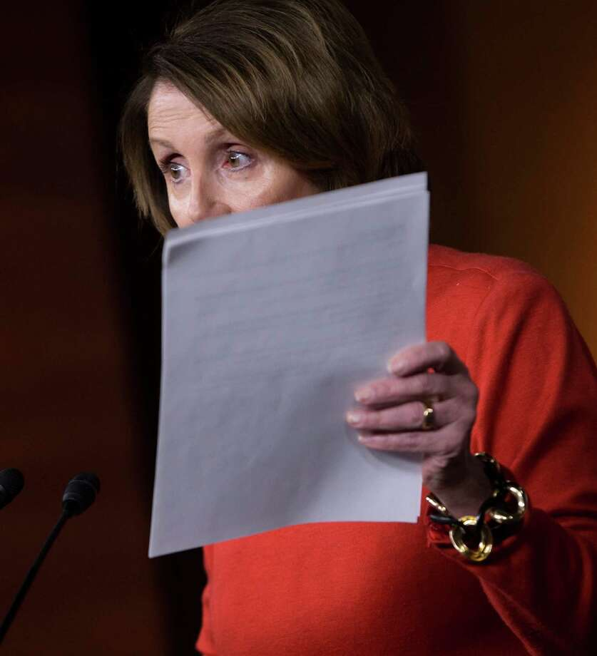 "House Minority Leader Nancy Pelosi of Calif. says the tax and spending measure is a ""Trojan horse."" Photo: J. Scott Applewhite, STF / AP"