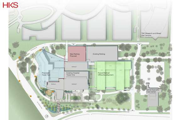 A site plan for the McNair Campus.