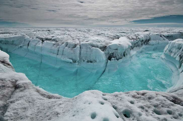 Thhe acceleration of the melting of the  Greenland Ice Sheet has ice scientists worried. Because of the ice sheet's shrinkage, sea levels have risen an inch, scientists have concluded.