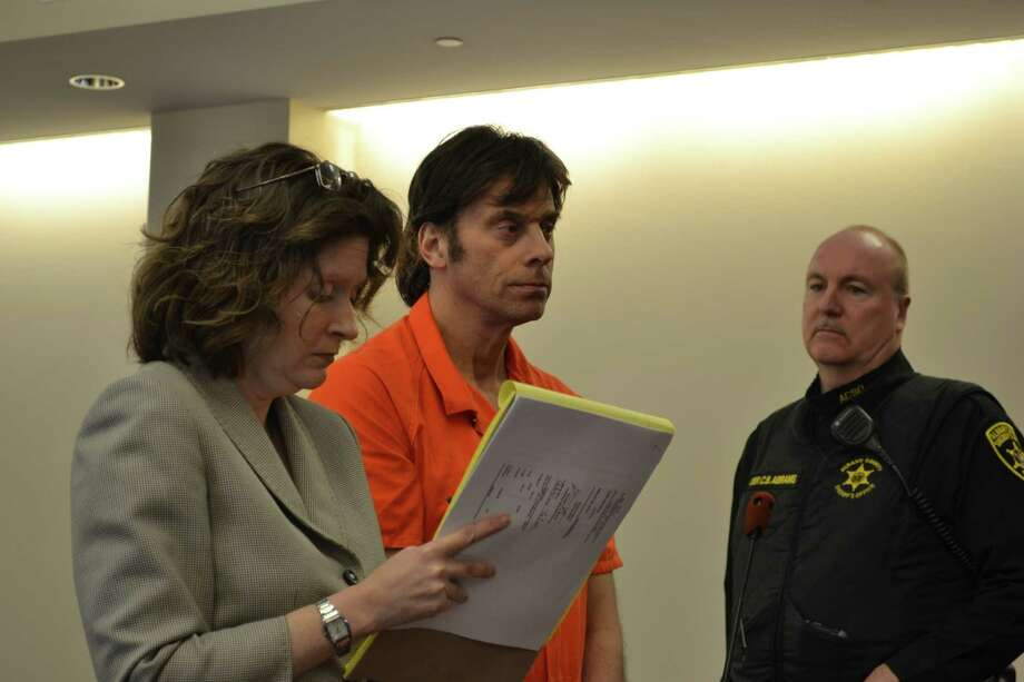 Brian Scavo, of Albany, pleaded not guilty of forgery charges Monday, March 2, 2015 in Albany County Supreme Court. (Keshia Clukey/ Times Union)