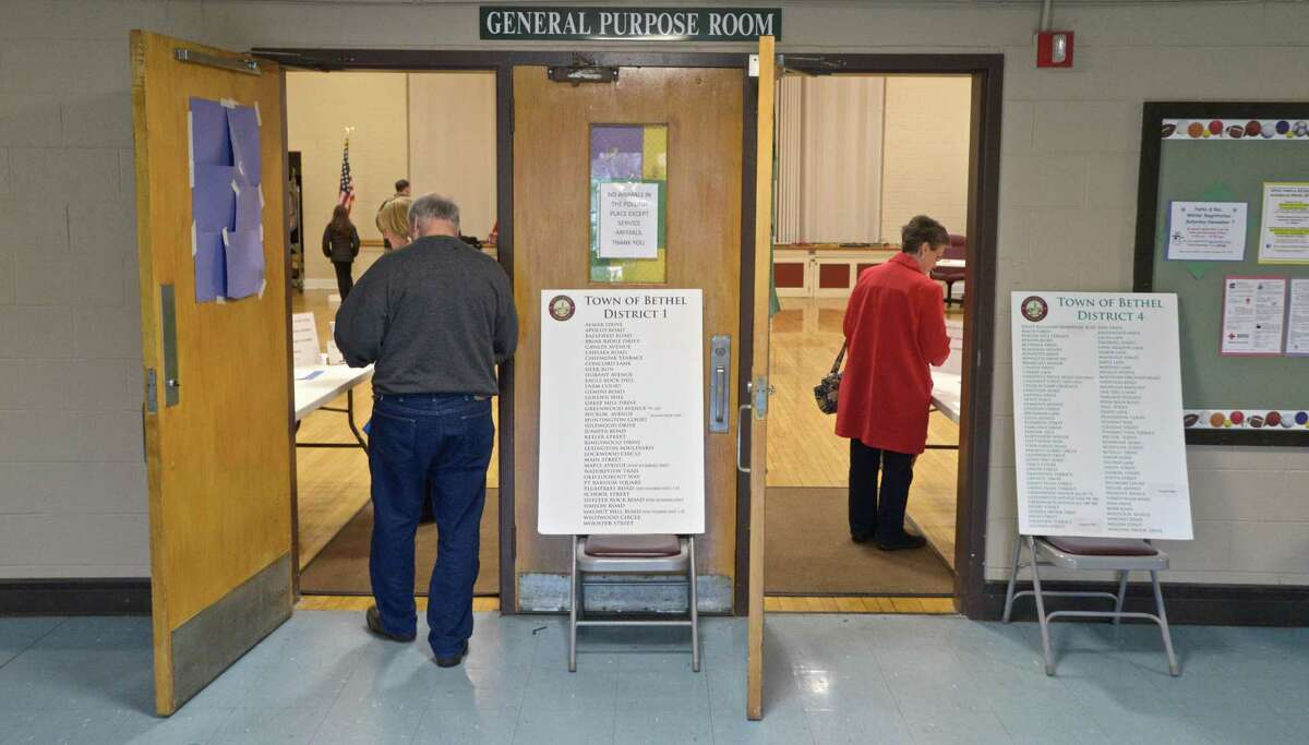 Bethel voters went to the polls to decide on the $13.5 million plan for a new police station in the municipal center polling station on Thursday.