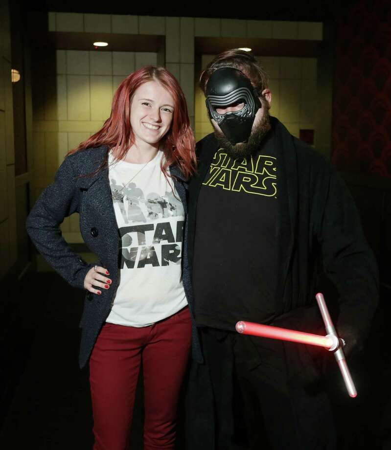 """Fans at the opening of the film """"Star Wars: The Force Awakens"""" on Dec. 17 at the Alamo Drafthouse in Houston. Photo: Jon Shapley, Houston Chronicle / © 2015  Houston Chronicle"""