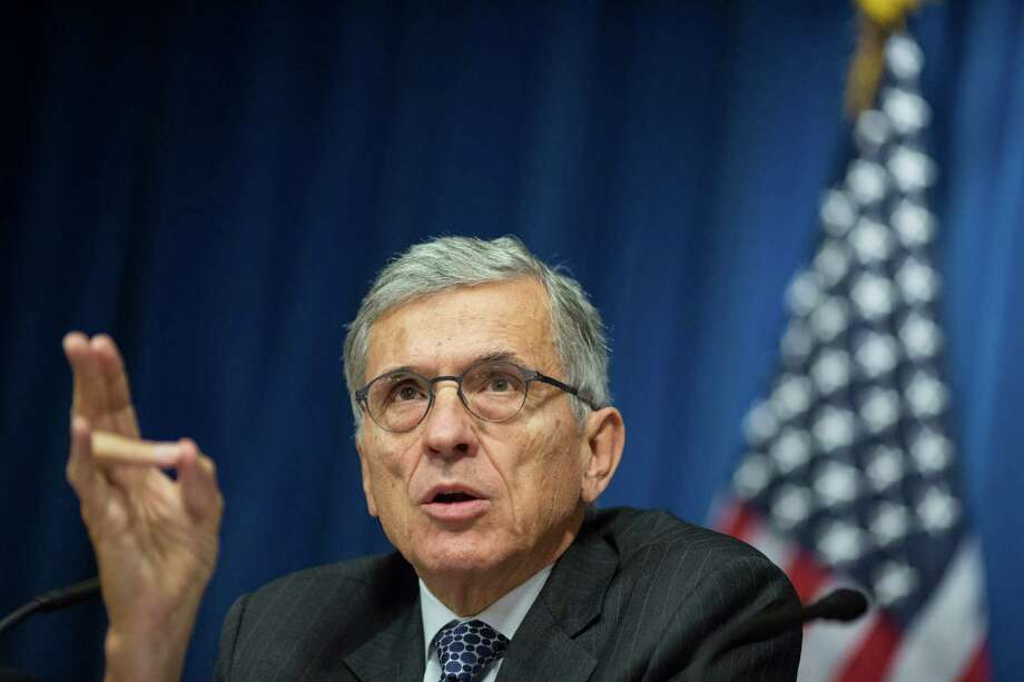 """PHOTO MOVED IN ADVANCE AND NOT FOR USE - ONLINE OR IN PRINT - BEFORE JAN. 18, 2015. é¢â'""""   FILE -- Tom Wheeler, chairman of the Federal Communication Commission, in Washington, Oct. 8, 2014. The FCC is expected to issue a draft proposal Feb. 5 for significantly tighter regulations for Internet carriers, but the issues involved are so complex and far-reaching that the market is having difficulty interpreting them. (Jabin Botsford/The New York Times) Photo: JABIN BOTSFORD, STR / NYTNS"""
