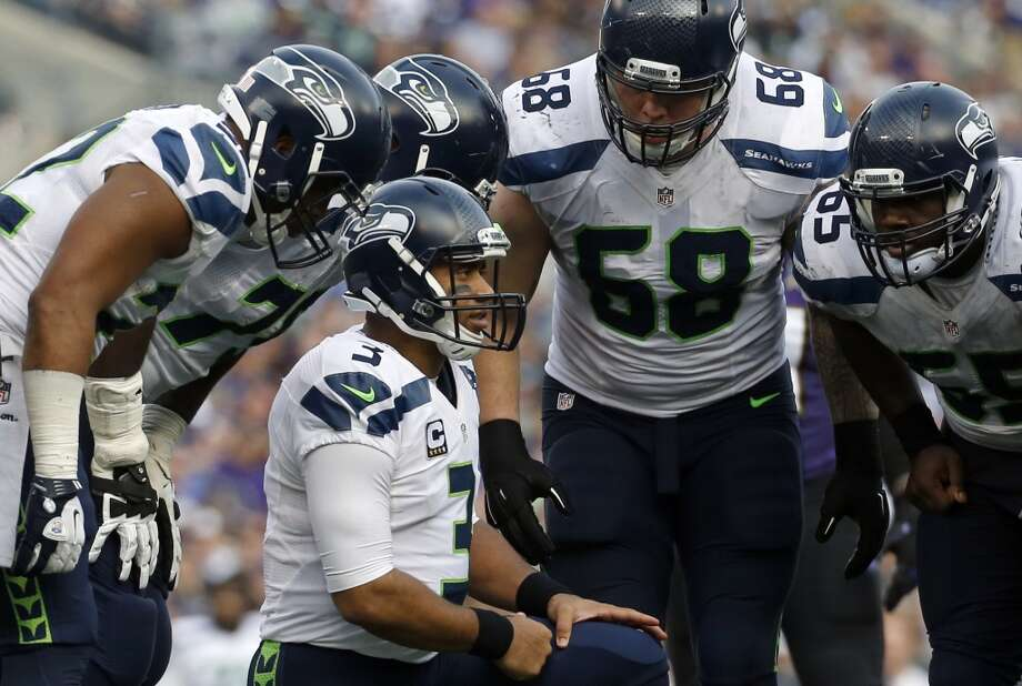 Seattle Seahawks (9-6)Projected: No. 6 seedRemaining schedule: at Cardinals (13-2)The Seahawks have clinched a wild card berth and will begin the playoffs on the road. The only thing to be determined is whether they'll be the fifth seed or the sixth seed and whether their first round game will be at Washington, Green Bay or Minnesota. If the Seahawks lose to the Cardinals next week, they will be the sixth seed and play the winner of next week's Green Bay-Minnesota game. If the Seahawks beat the Cardinals and the Packers beat the Vikings, Seattle would be the five seed and play at Washington. If the Seahawks beat the Cardinals and the Vikings beat the Packers, Seattle would be the six seed and play at Minnesota. Got all that? Whew. Photo: Patrick Semansky, Associated Press
