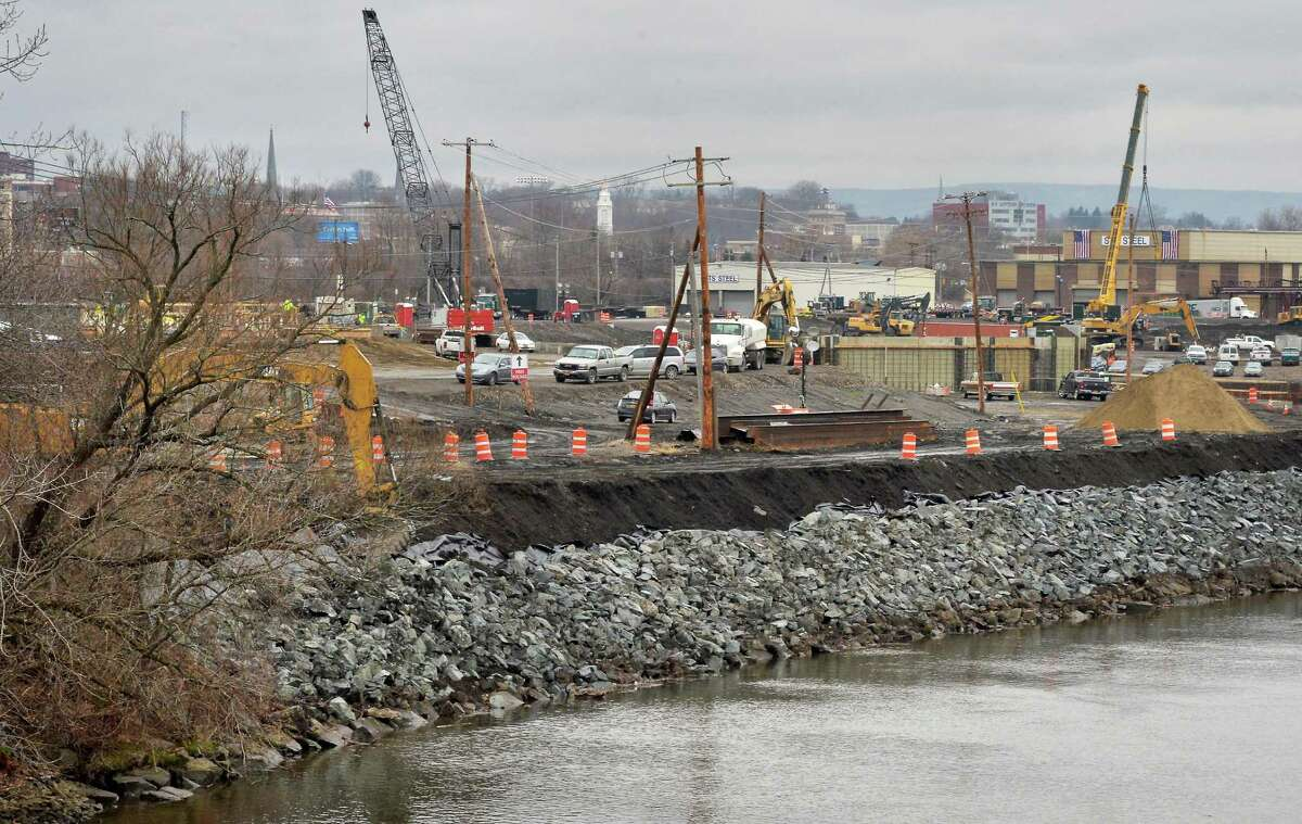 Work continues at Rivers Casino and Resort at Mohawk Harbor Thursday Dec. 17, 2015 in Schenectady, NY. (John Carl D'Annibale / Times Union)