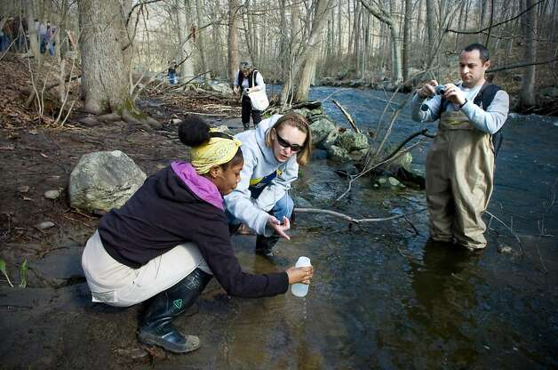 Stamford students study water quality with SoundWaters ...